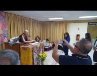 2016 - Giving  Upasika Vows in Lima Peru