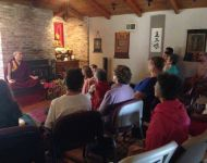 US tour 2014  - Sky Creek Dharma Center - Chico CA - teaching - 3