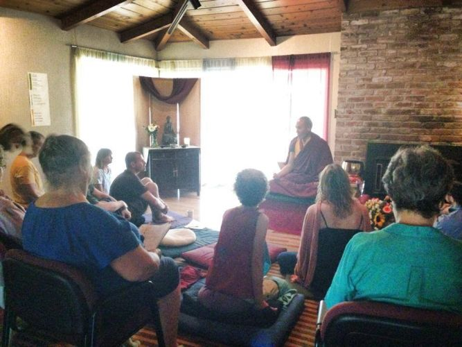 US tour 2014  - Sky Creek Dharma Center - Chico CA - teaching - 4